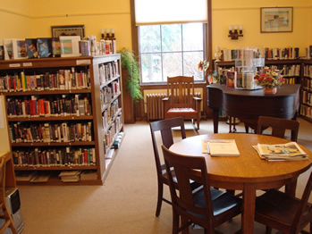 The reference room.