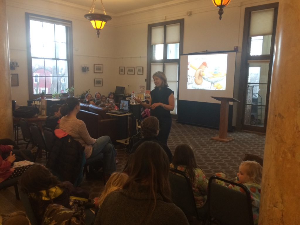 Author Doreen Cronin Visiting the Library